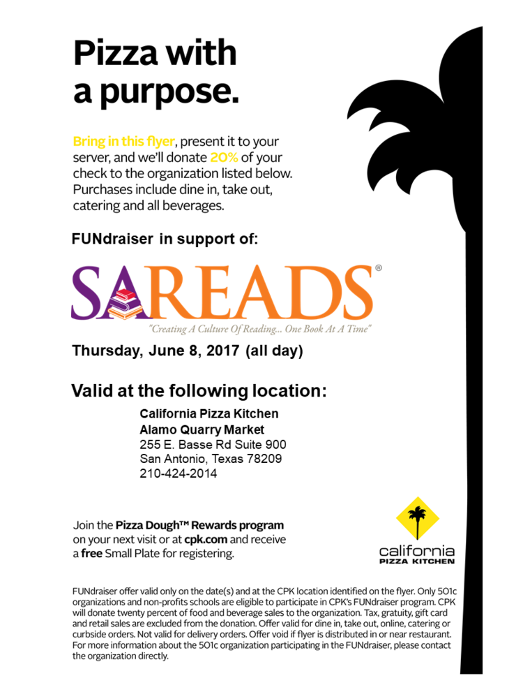 California Pizza Kitchen Hosts FUNdraiser in support of SAReads ...