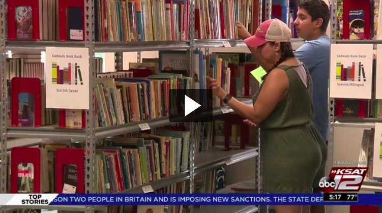 Local nonprofit helping teachers build classroom libraries through donations. - KSAT 12 News, August 2018