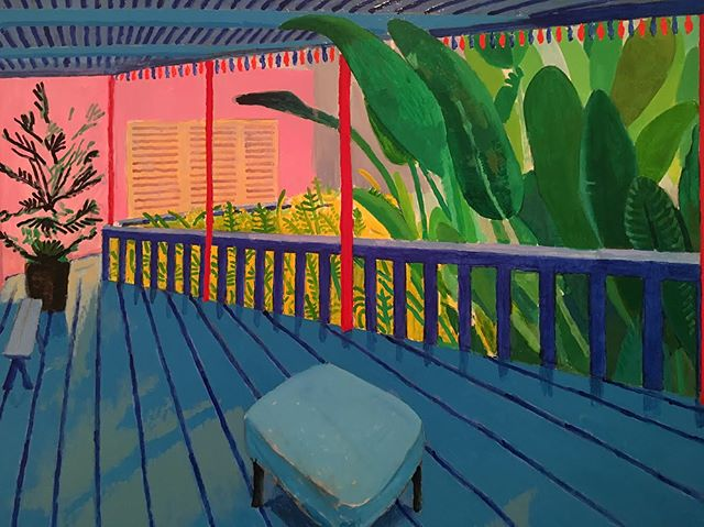 Winter Storm Quinn has us dreaming of #DavidHockney's California 💭🌞