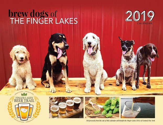 Buy your Brew Dogs of the Finger Lakes Calendar at Felicia's! Our very own Henny is Miss December! #fingerlakesbeertrail #flspca #holidaygift #brewdogs #trumansburgisbeer