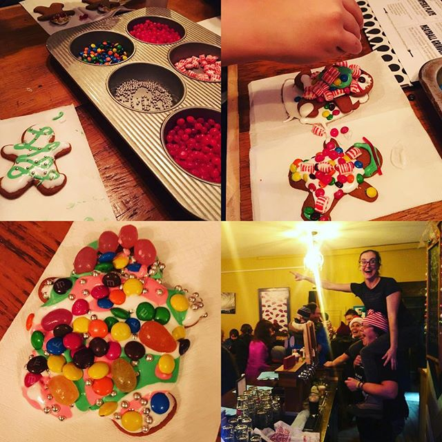 350 kids decorated cookies for Tburg Winterfest at Felicia's in 2018! The staff were particularly excited when Santa arrived on Main Street. #tburgwinterfest #trumansburg #gingerbreaddecorating #santaiscoming