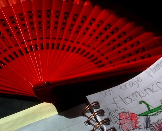 fan & dress drawing