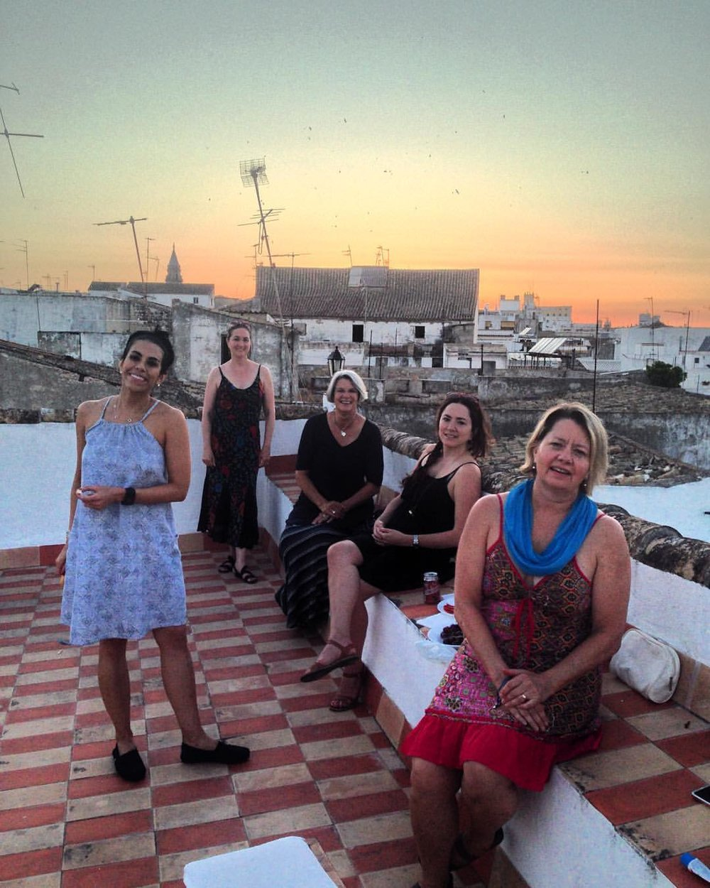 summer ladies on the rooftop at sunset.jpg