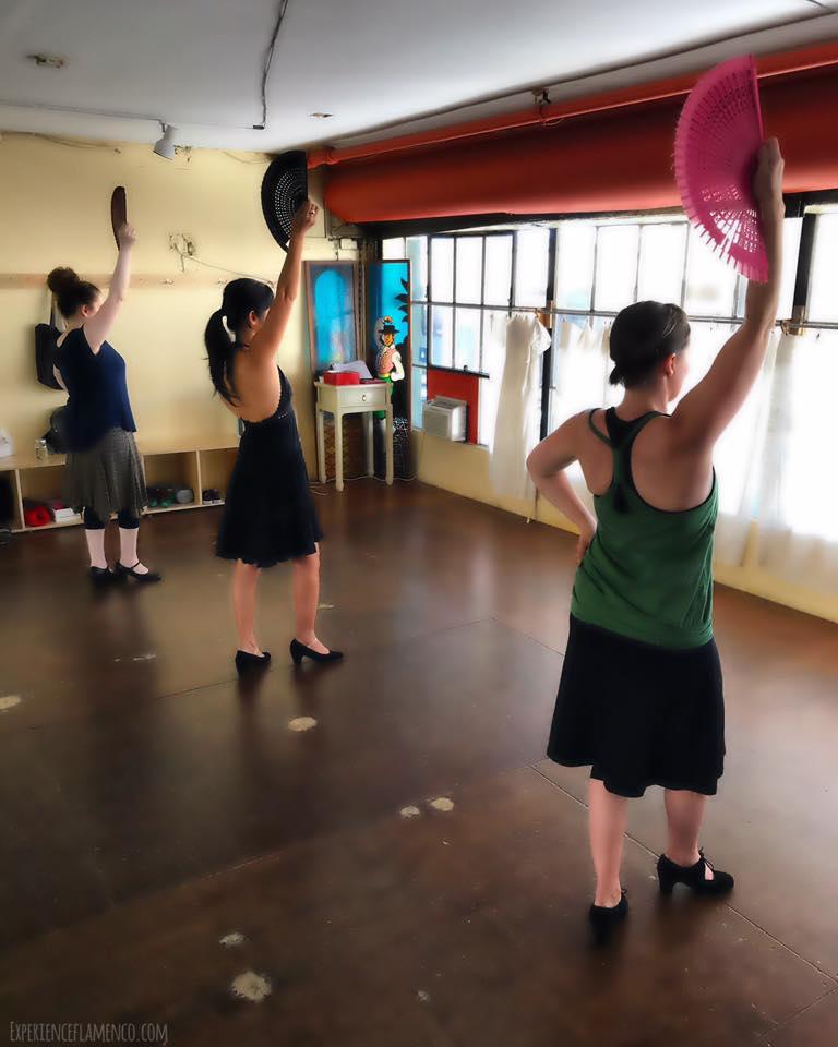 flamenco abanico class