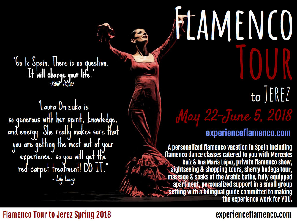 Dates have been updated for the spring flamenco tour to Jerez. Let's go!