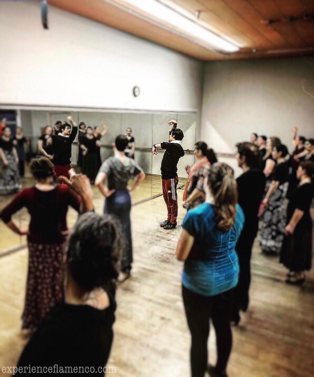 Flamenco dance workshops in Portland with Jesús Carmona