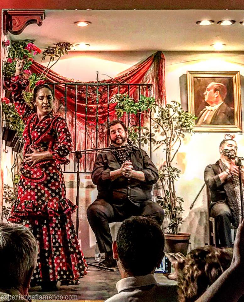 Saray Garcia with Juanilloro and Quini at Don Antonio Chacón Centro de Flamenco