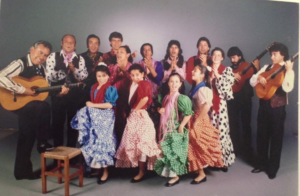 with Manuel Morao's company (photo courtesy of the  Centro Andalus de Flamenco