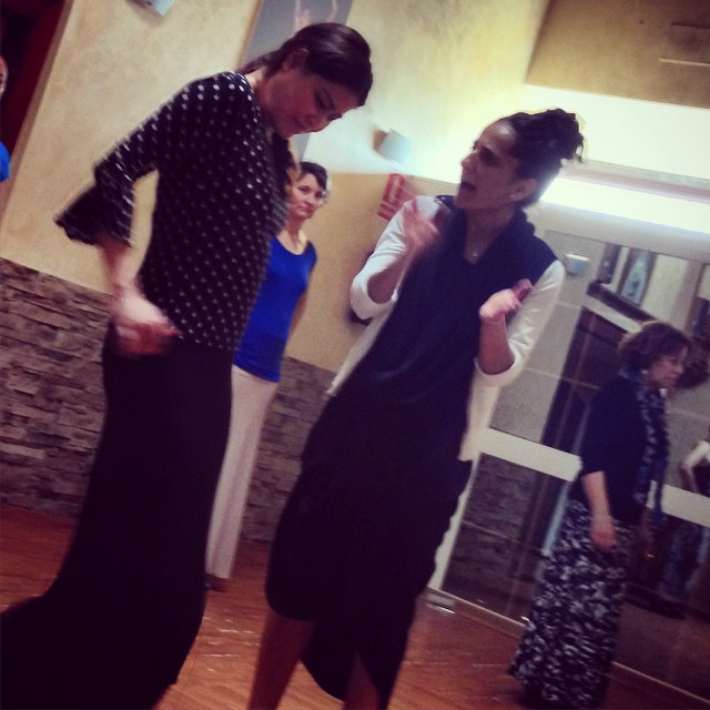 Teaching the  Flamenco Tour  students