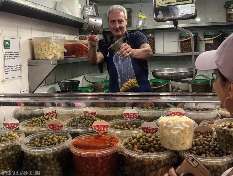 Yum, fresh olives!