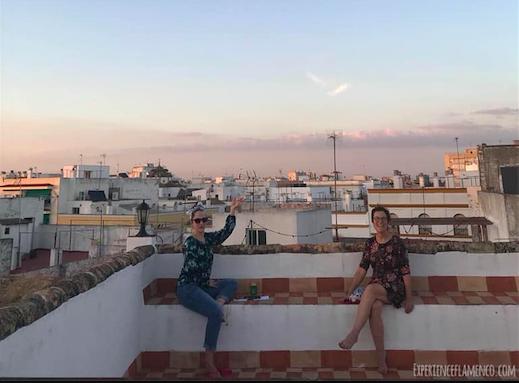Lovely flamencas enjoying the view