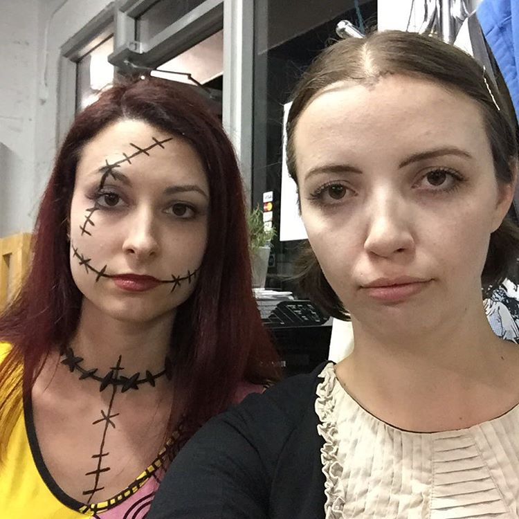 We had a great halloween as Sally and Wednesday. Can you tell? Thanks for coming out and creepin it real Fort Lauderdale 🎃 (at Is Projects)