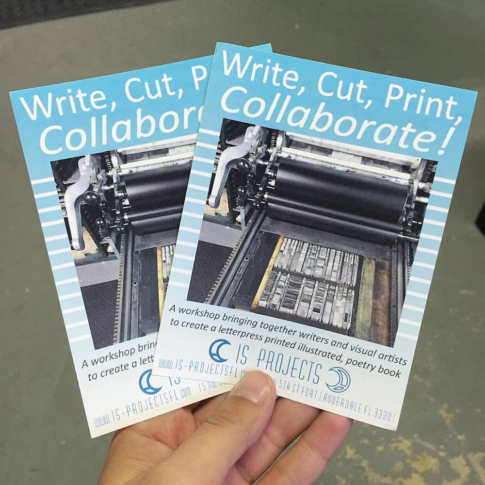 Don't forget! We have this very exciting workshop coming up this weekend. Visual artists and writers will get to learn letterpress printing and work together to create a small edition collaborative fine art book. We couldn't be more stoked about this one! Get more info and sign up on our website (link in profile) (at Is Projects)