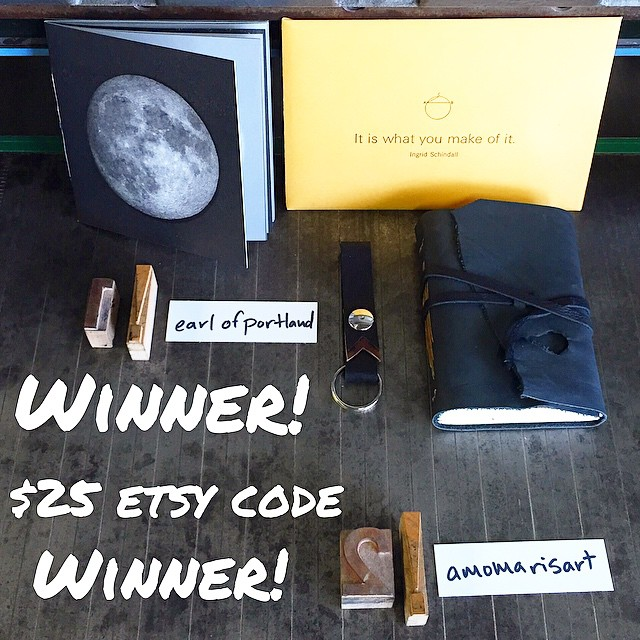 We have our winners! Congratulations @earlofportland you win our grand prize package and congrats to @amomarisart you win a $25 gift code to our etsy shop! Please shoot us an email info@isprojectsfl.com so we can straighten out the details. (at Is Projects)