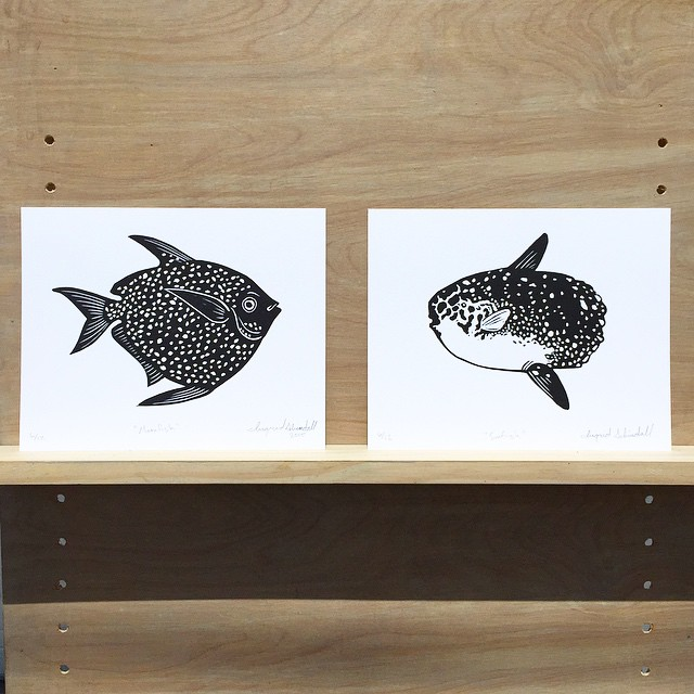 The latest editions out of ISP: Moonfish (right) and Sunfish (left) (at Is Projects)
