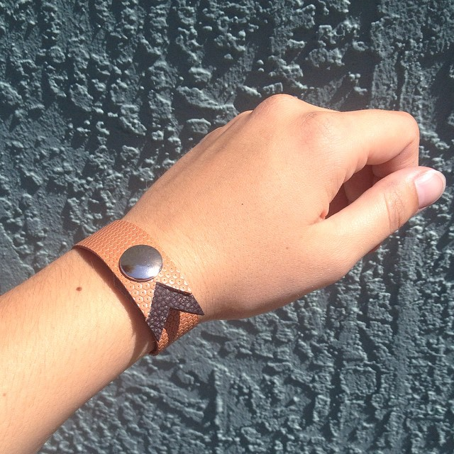 Let's take a vote! Cute or no? I'm debating on making a bunch of these snap leather bracelets. What do you think? (at Is Projects)