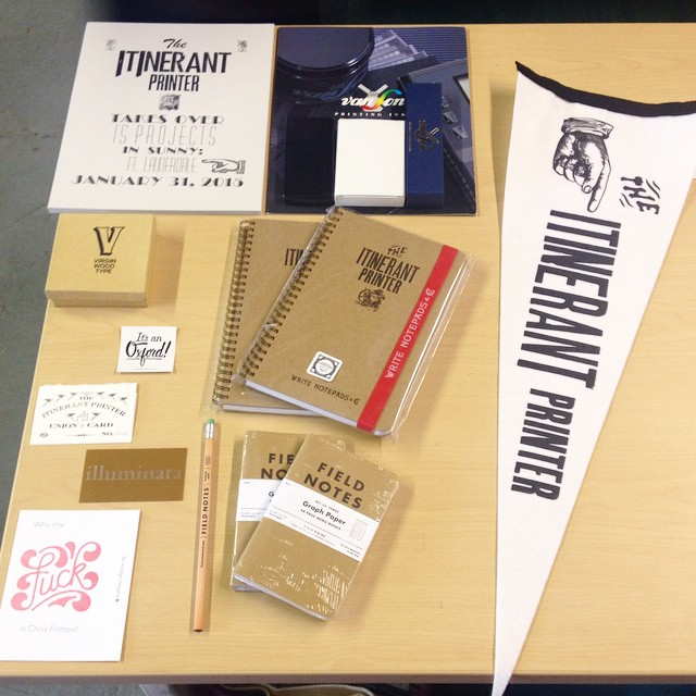 Thank you so much for visiting @itinerantprinter and thanks for all the swag! We'll get some good use everything! (at Is Projects)