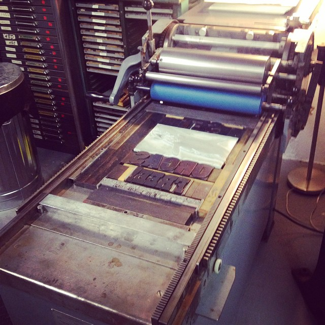 One year ago I put a deposit on the Vandercook SP15. It has been a long and eventful year. Here's to more where that came from. #somuchtoprint! (at Is Projects)