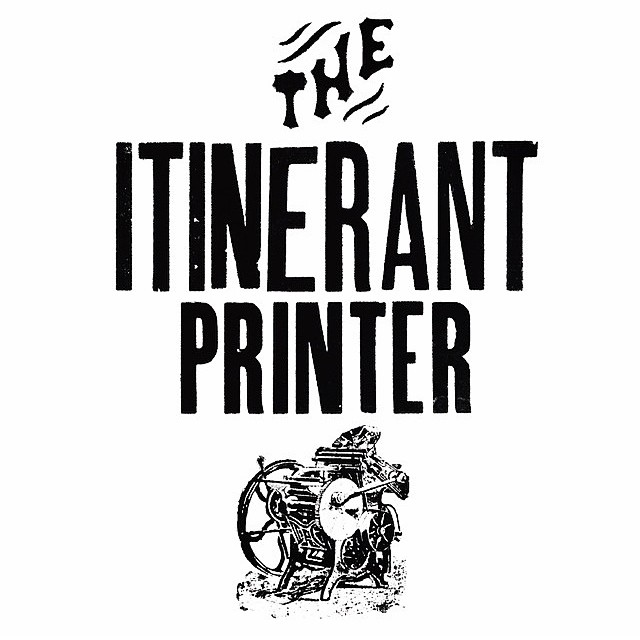 That's right everyone! @itinerantprinter Chris Fritton will be visiting ISP from Jan 31st to Feb 2nd. Artwalk is Jan 31st from 6-11pm come through to meet Chris, make some prints, and share some stories. It's bound to be a great time! Also go follow @itinerantprinter for a chance to win some sweet swag.  (at Is Projects)