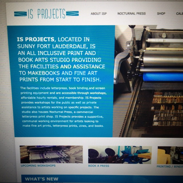New website coming soon! You'll be able to see upcoming events, book press time, and view out current projects.