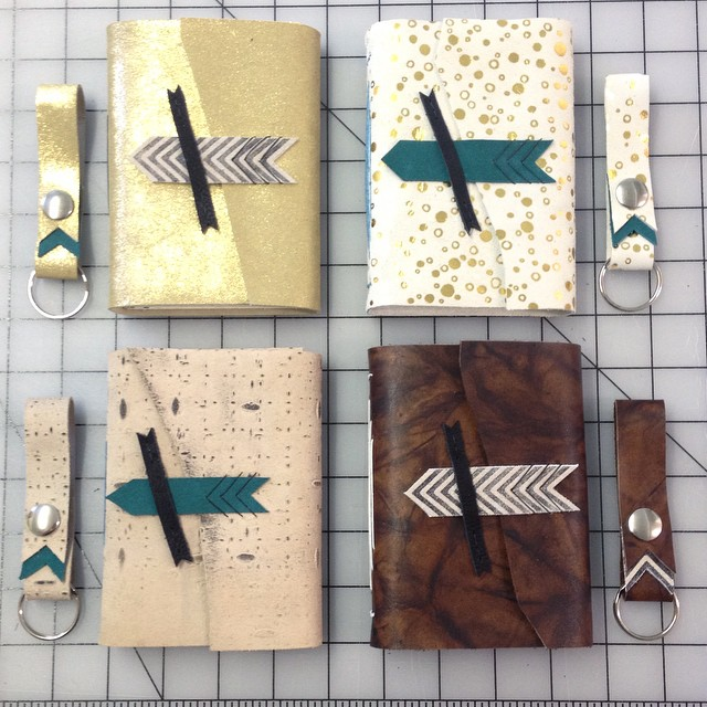 I've been a little arrow obsessed lately. It's all about the forward motion with these mini books and matching key holders :3 (at Is Projects)