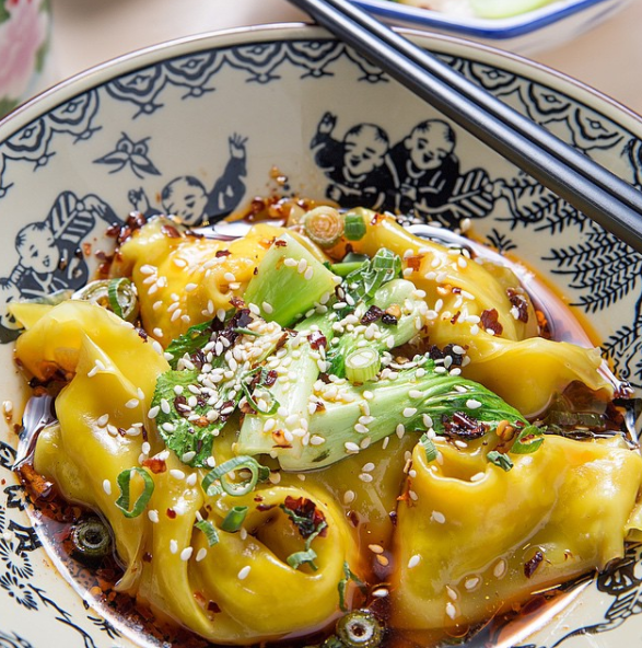 Chilli dumplings from @majong_restaurant