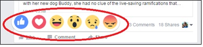 New Facebook reaction buttons