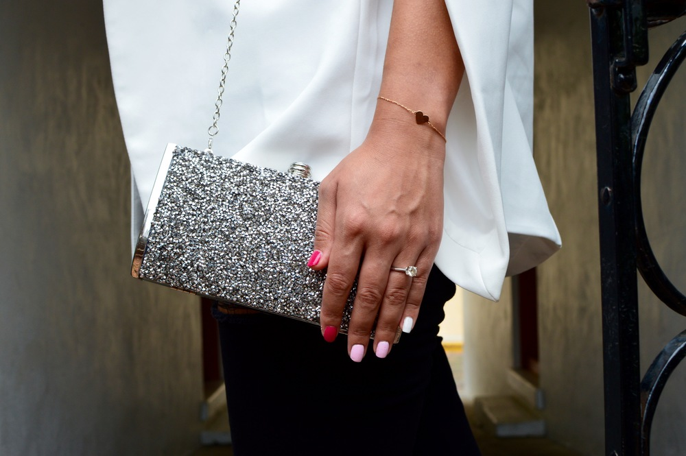 SILVER CLUTCH: NORDSTROM RACK
