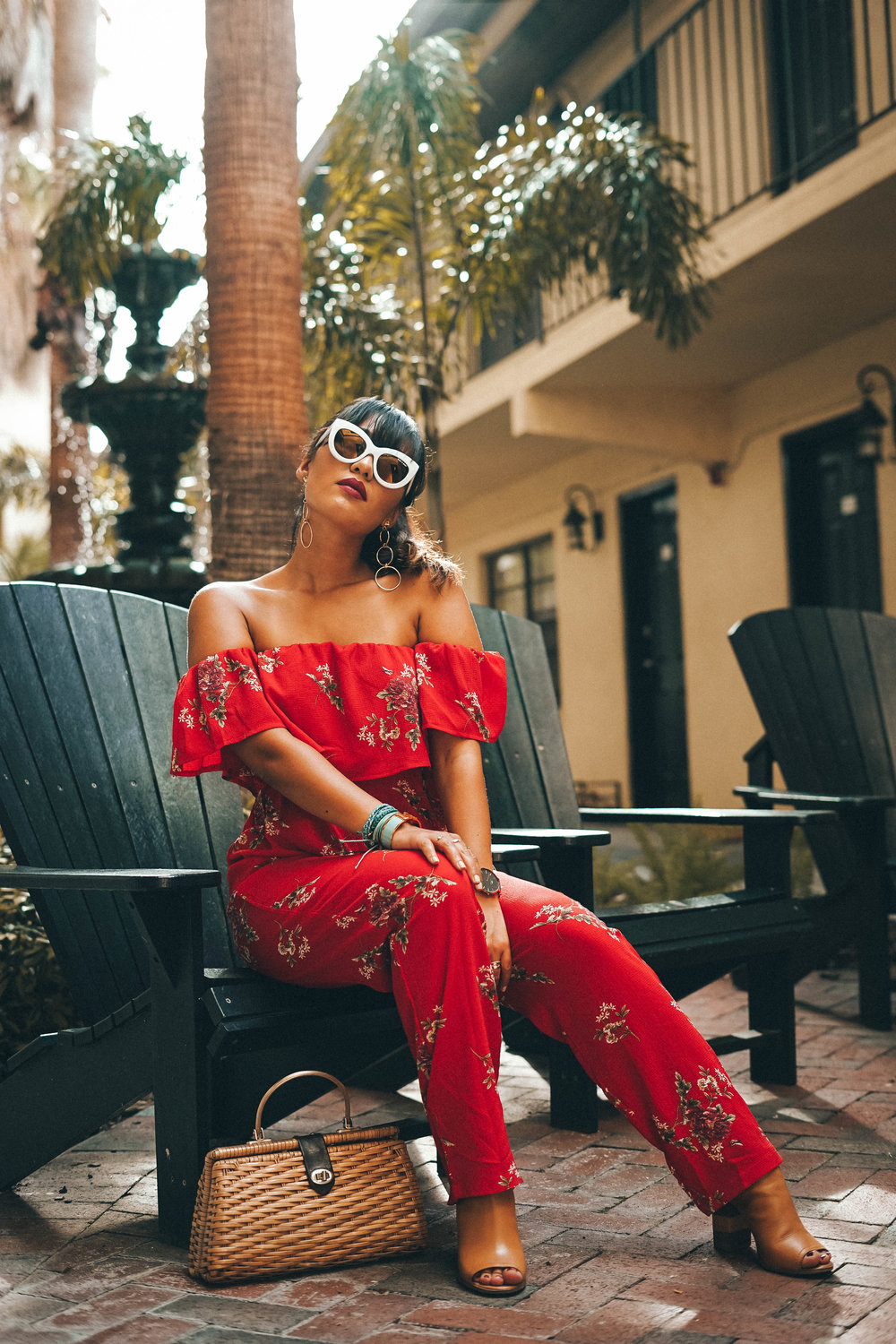 red-floral-print-orlando-blogger