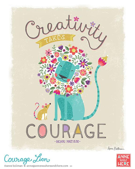 CourageLion_AnneWasHere