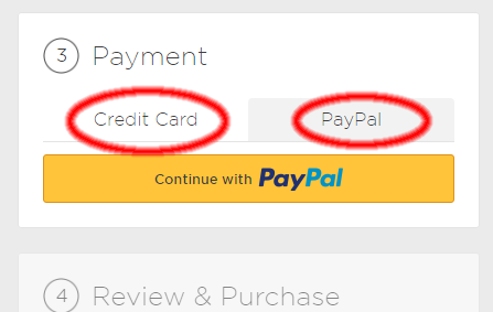 PURCHASE using Paypal