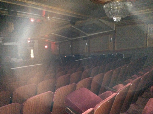 2015 Lyric Theater in New York City before Space Clearing (circular shapes are called 'Orbs')
