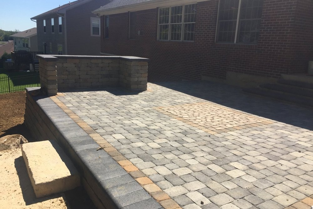 A Permeable Paver Inlay Was Installed In The Middle Of The Upper Patio  Allowing Runoff Tou0026nbsp