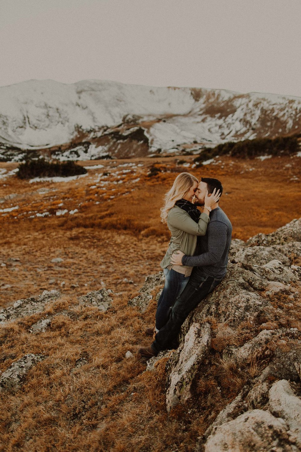 Jayke + Holly Trail Ridge Road, Rocky Mountain National Park Engagement Session View