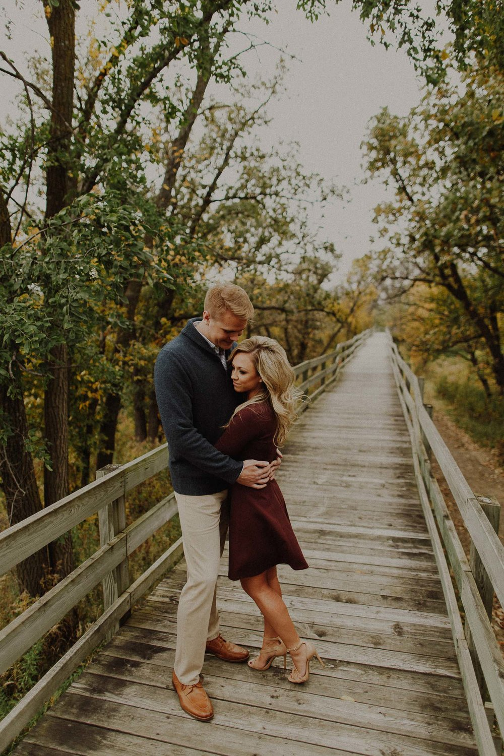 Kurtis + Timaree  Fall Engagement Session at Hitchcock Nature Center view