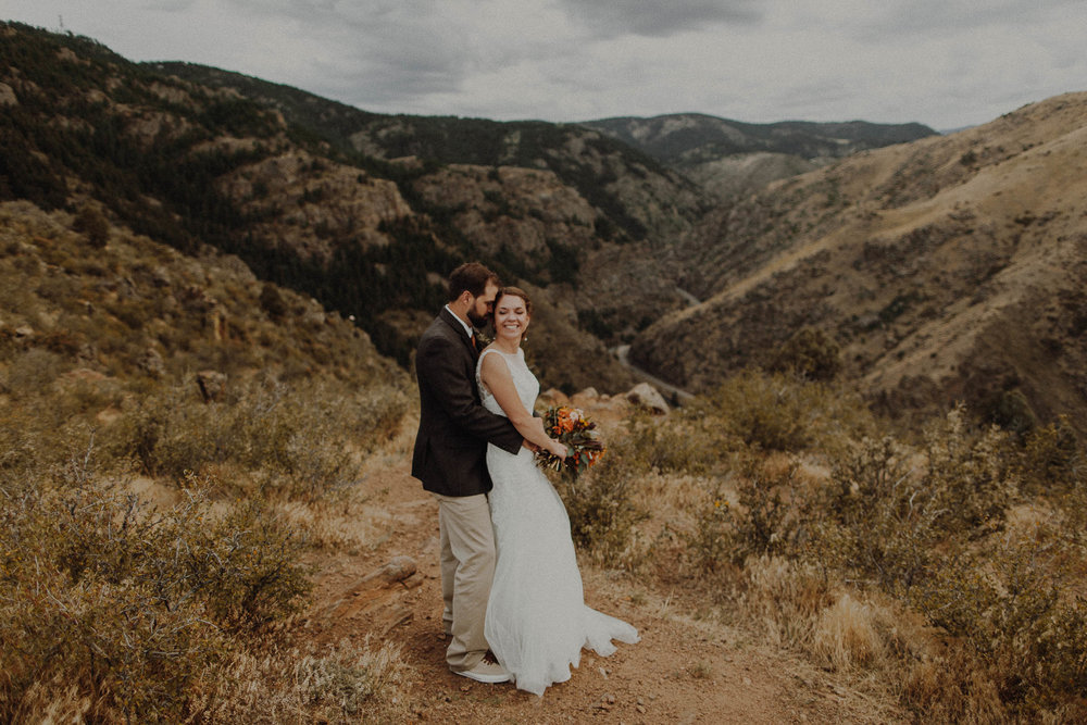 Daniel + Kaitlin  Red Rocks Chapel Golden, Colorado Wedding   View
