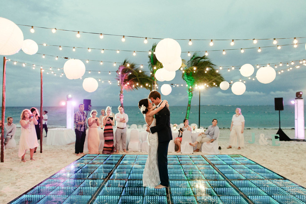 Jaymes + Emily   Excellence Playa Mujeres Wedding in Mexico   View