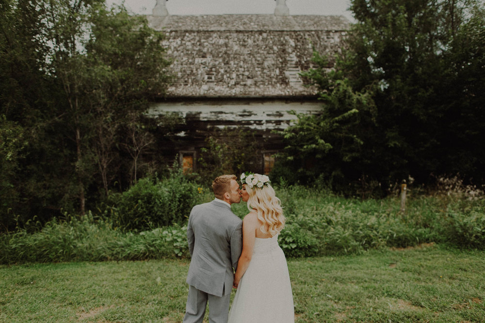 Taiten + Haley  Boho-Chic Rustic Wedding at Ackerhurst Barn in Omaha, Nebraska   View