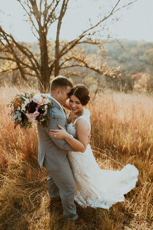 Kyle + Jayne  Outdoor Fall Wedding in Omaha, Nebraska   VIEW