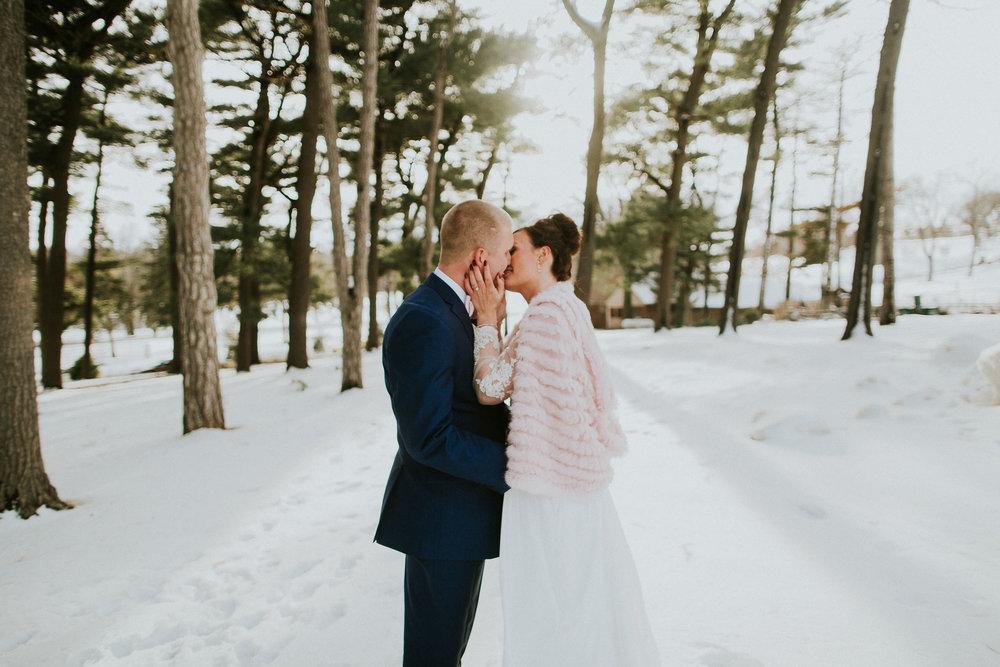 Sam + Gabbi  Winter Wedding in Omaha, Nebraska   VIEW