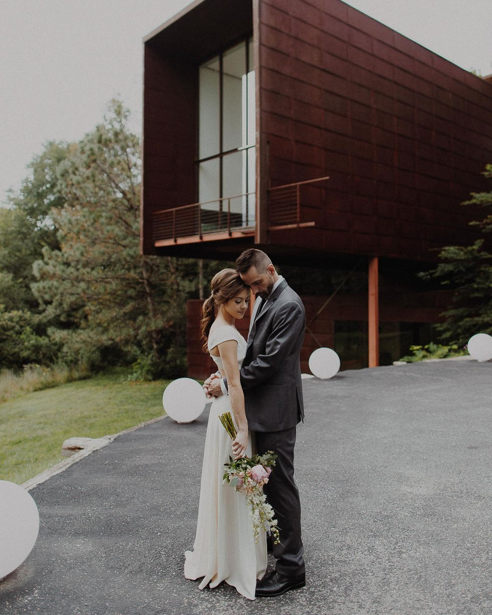 Daniel + Jackie  Modern Wedding at The Laboratory House in Omaha, Nebraska Wedding VIEW