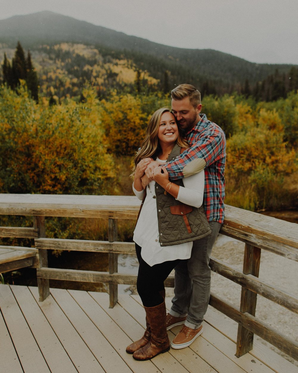 Nate + Molly   Trail Ridge Road & Rocky Mountain National Park Engagement Session View