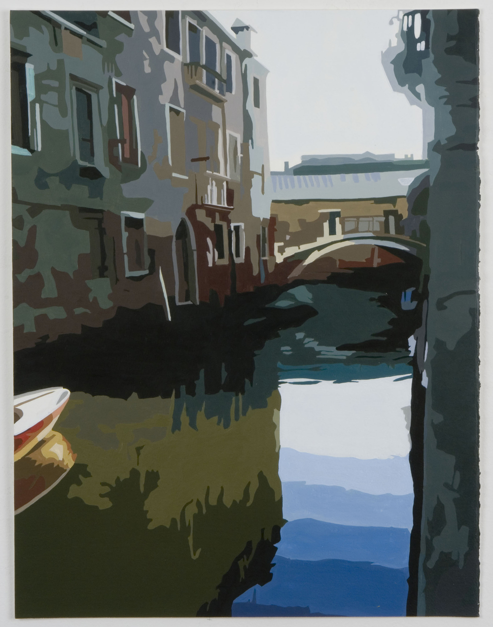 Tourist scenes: Cannaregio at dawn , 2006, Acrylic on gessoed paper, 19-1/2 x 15 inches