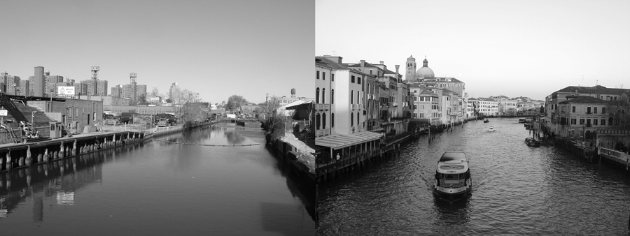 The Grand Gowanus, no.1 ,  series,  2008, giclée prints, 4-1/8 x 11 inches, stereo prints presented in custom paper portfolio