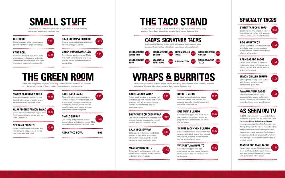 Cabo fish taco derek marckel for Fish taco menu