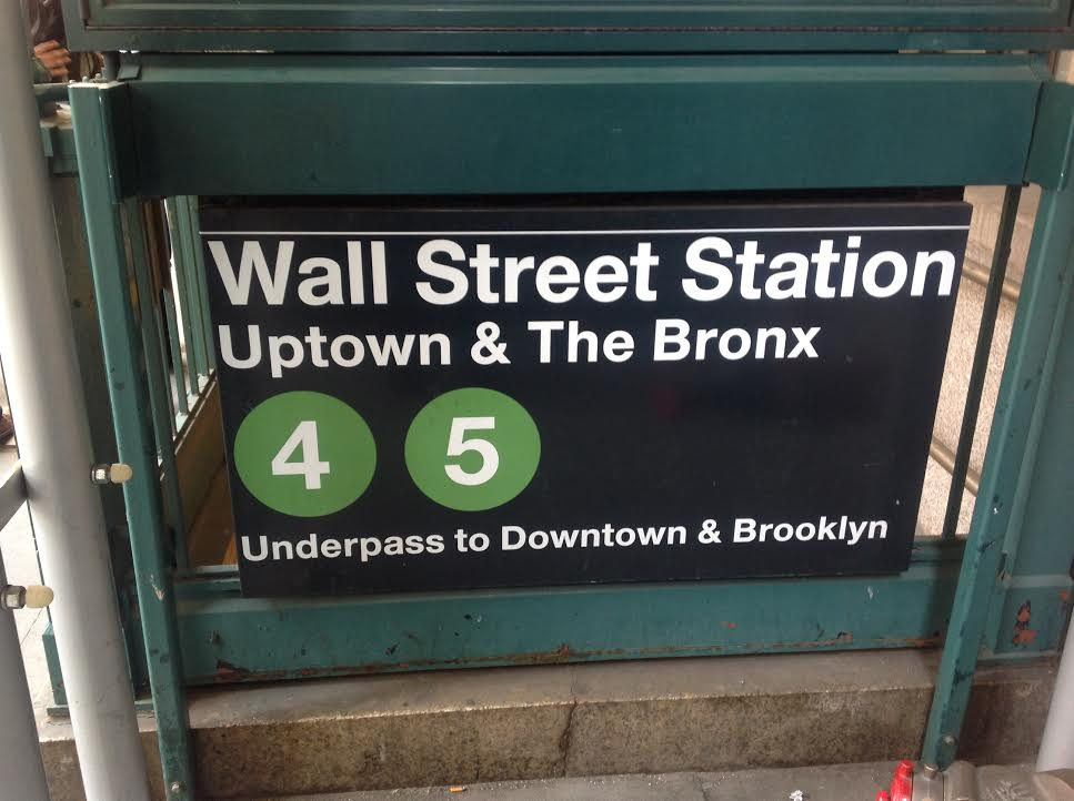 entrance to wall street subway station