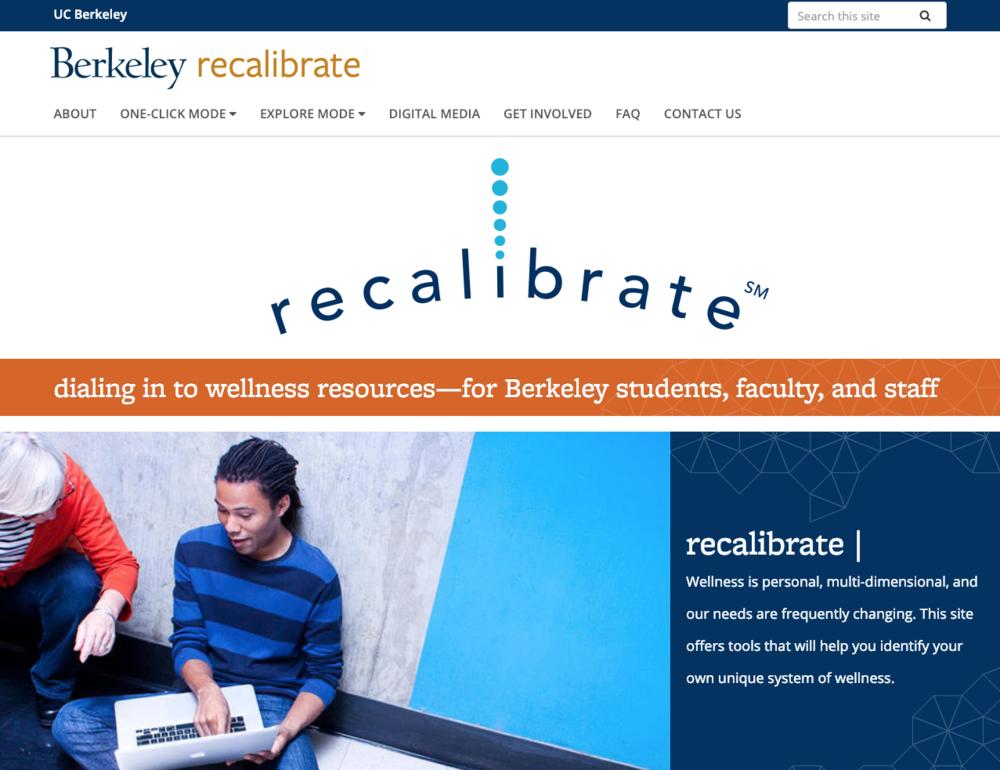 WEBSITE DESIGN + DEVELOPMENT, NAMING, SERVICE MARK, CONTENT  |  Recalibrate