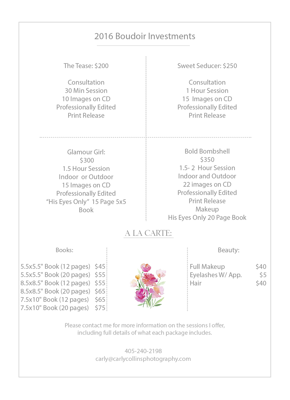 Investments carly collins photography boudoir price sheet publicscrutiny Choice Image