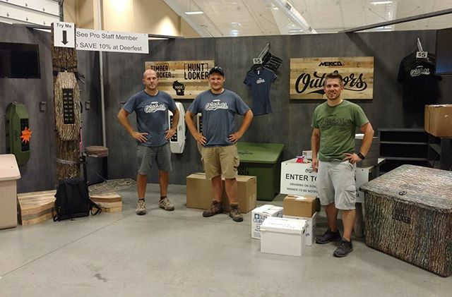 Mekco Outdoors is officially set for @deerfest!  See us Friday thru Sunday in booth 710/711.  #mekcooutdoors #timberlocker #huntlocker #madeinwisconsin #bowhunting #hunting #huntingstorage #conceptworks