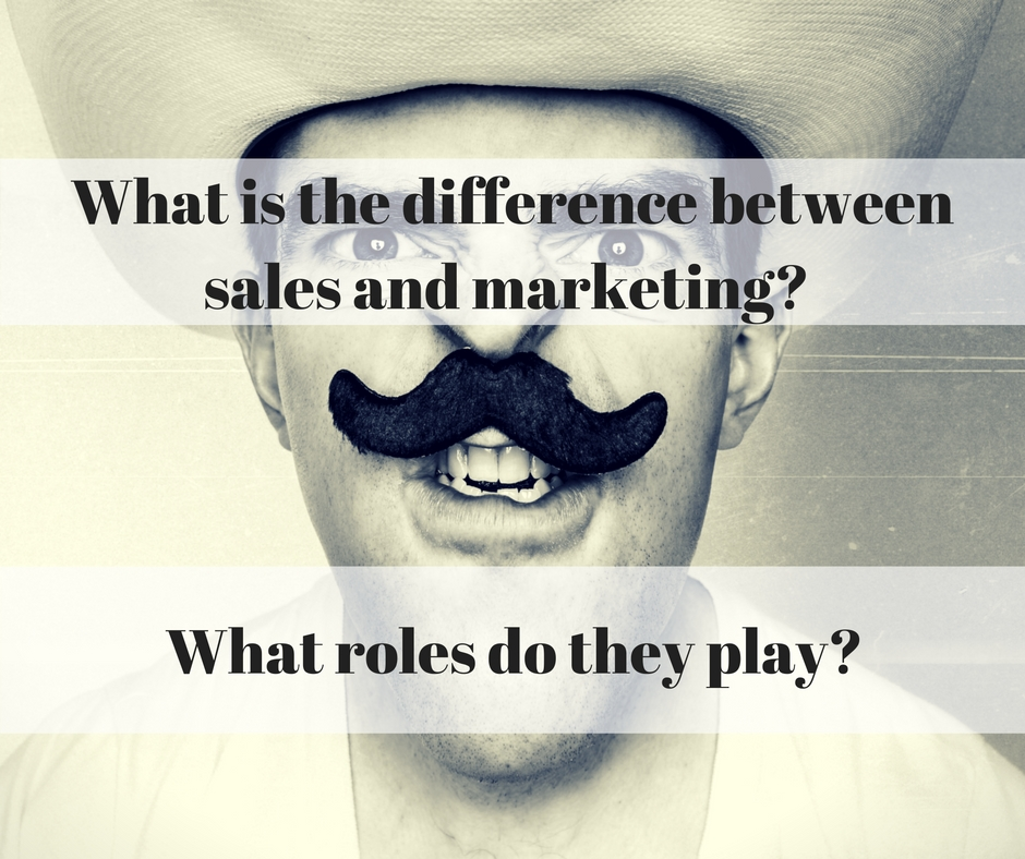 What is the difference between sales & marketing?